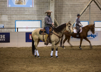 Cody presenting at the Rocky Mountain Horse Expo