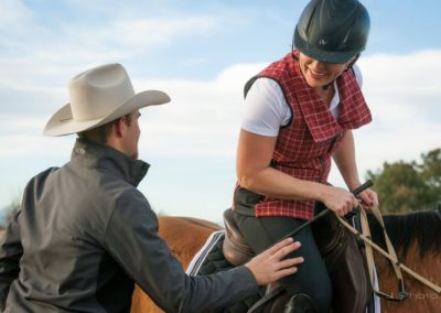 Cody instructing Carrie