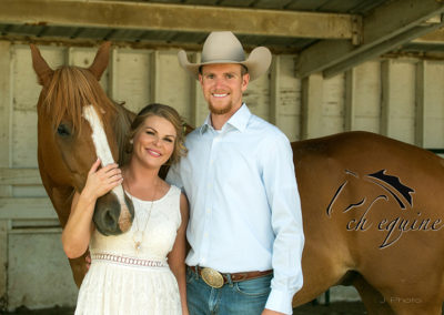 Cody and Carrie with Duke