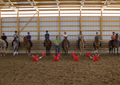 Cavalletti Clinic Riders at CH Equine